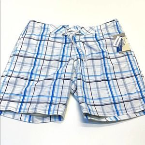 OLD NAVY Mens Large White / Blue Board Shorts